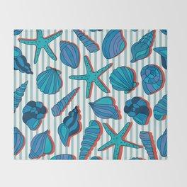 summer time blue Throw Blanket