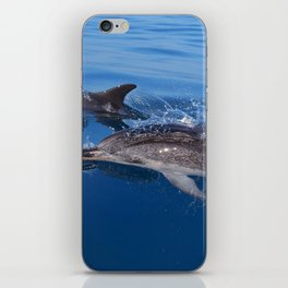 Mother and baby spotted dolphin iPhone Skin