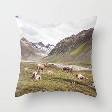 Tyrolean Haflinger horses I Throw Pillow
