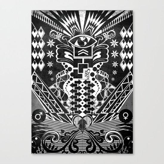 Insane Black & White Canvas Print