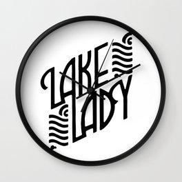 Lake Lady Logo (black) Wall Clock