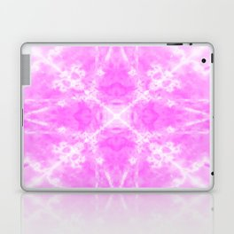 Pink kaleidoscope star Laptop & iPad Skin