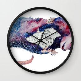 Exquisite Corpse: Possum  Wall Clock