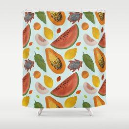 Papayas, watermelons and tropical flavours!  Shower Curtain