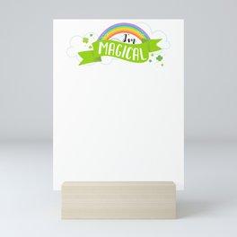 Kids St Patricks Day I'm Magical Rainbow Mini Art Print