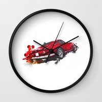 ferrari Wall Clocks featuring Ferrari 275 by Claeys Jelle Automotive Artwork