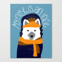 Arctic Fox by Darah King Canvas Print