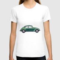 volkswagen T-shirts featuring Volkswagen Beetle by BSJC Automotive Art