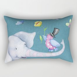 Elly and Chirp Rectangular Pillow