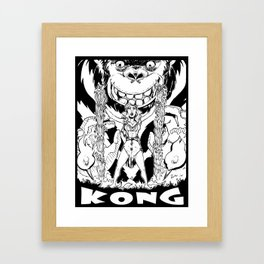 Kong loves Cheesecake B&W Framed Art Print