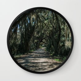 Georgia Spanish Moss Road Wall Clock