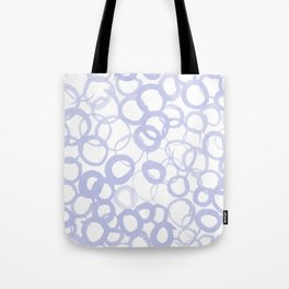 Watercolor Circle Pale Blue Tote Bag