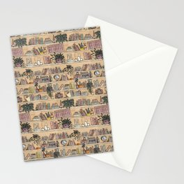 Library Print Stationery Cards