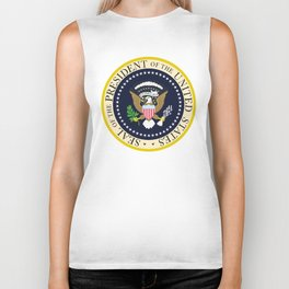 US Presidential Seal Biker Tank