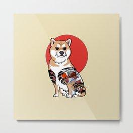 Yakuza Shiba Inu Metal Print