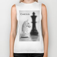 chess Biker Tanks featuring Chess by Falko Follert Art-FF77