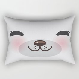 Kawaii funny gray seal Rectangular Pillow