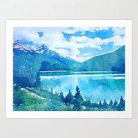alaska Art Prints featuring Alaska by Acacia Alaska
