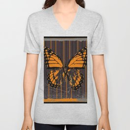 SHABBY CHIC ANTIQUE BUTTERFLY ART Unisex V-Neck