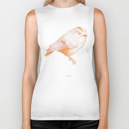 Goldcrest (Regulus regulus) - orange and yellow Biker Tank