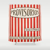 cigarette Shower Curtains featuring Provisorios - Vintage Cigarette by Fernando Vieira