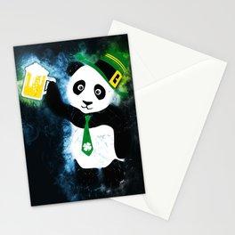 Patrick the Panda in Black Grunge Background Stationery Cards