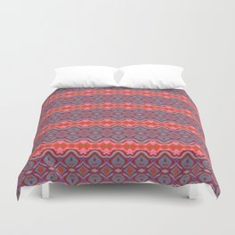 Summer splash - Coral and Blue Duvet Cover