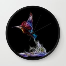 King Fisher Fractal Wall Clock