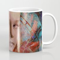 alice in wonderland Mugs featuring Alice in wonderland by Joe Ganech