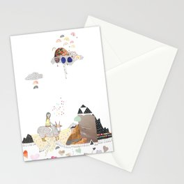 Hermit Crab vs. Snail Stationery Cards