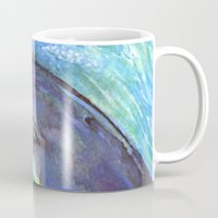 dolphins Mugs featuring Dolphins by Natalie Berman