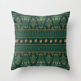 Egyptian Neck Gator Egypt Green Egyptian Scarabs Throw Pillow