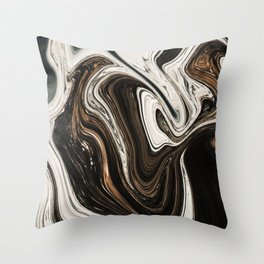 Melted Alps Throw Pillow