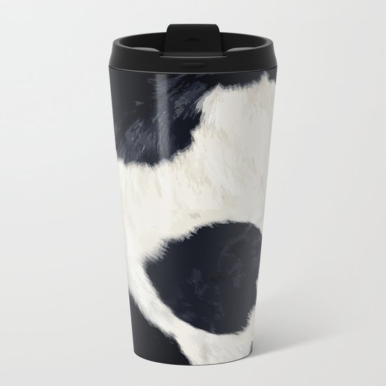Cow Skin Metal Travel Mug