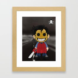 Lil Horror Classics Featuring Leatherface from Texas Chainsaw Massacre Framed Art Print