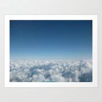 Fluffy Clouds II Art Print
