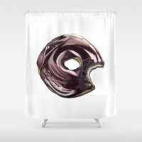 doughnut Shower Curtains featuring Doughnut  by kdboiart