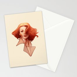 Art Deco Redhead Stationery Cards