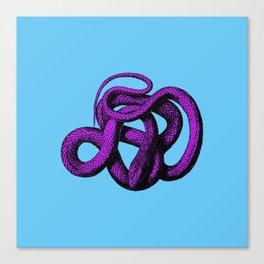 Snek 4 Snake Purple Blue Canvas Print