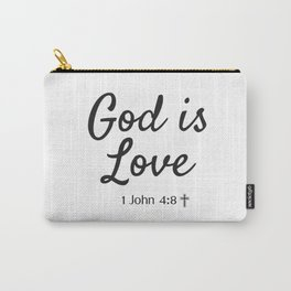 God is Love - Religious Art Carry-All Pouch
