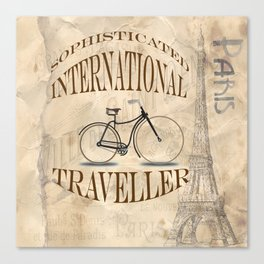 Sophisticated International Traveller Canvas Print
