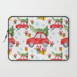 Christmas Red Car Laptop Sleeve