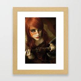 Put on Your War Paint Framed Art Print
