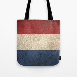 Old and Worn Distressed Vintage Flag of The Netherlands Tote Bag