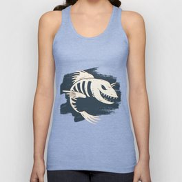 Fish Skull / Skeleton Unisex Tank Top