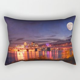 Along The Ohio River Rectangular Pillow