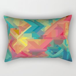 VIBRANT ABSTRACT MULTI COLOR GEOMETRIC PATTERN GRAPHIC Rectangular Pillow