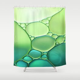 Jade Ombre Bubbles Shower Curtain