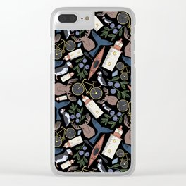 Acadia Pattern 2 Clear iPhone Case
