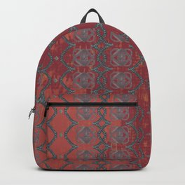 Red Chains Pattern Backpack